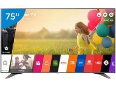 """Smart TV LED 75"""" LG 4K Ultra HD 75UH6550 - Conversor Digital 3 HDMI 3 USB Wi-Fi"""