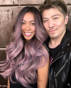 The elegant kind of purple and pink by Guy Tang. #purpleombre #hair