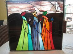 Items similar to Stained Glass Hanging, Three Wise Men, x 20 Nativity, (Wonderful Christmas Gift) on Etsy Stained Glass Designs, Stained Glass Projects, Stained Glass Patterns, Stained Glass Art, Mosaic Glass, Stained Glass Christmas, Glass Christmas Ornaments, Christmas Art, Christmas Manger