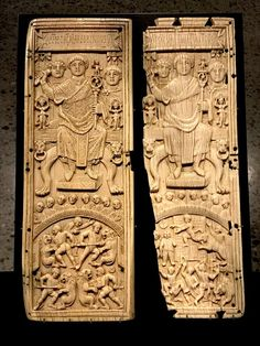 Byzantine Diptych of Ivory (by James Blake Wiener) -- Diptych (two-part writing tablet), ivory. From the collection of the Zurich historian J. The man on the throneÉ Ancient Art, Ancient History, History Encyclopedia, Medieval Art, Latest Images, Romanesque, Ancient Civilizations, Byzantine, Historian