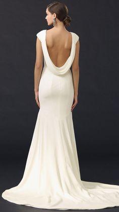 Theia 'Daria' size 10 used wedding dress back view on model