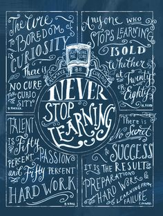 Never Stop Learning Art Print