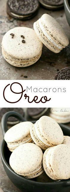 Turn your favourite store-bought classics into something more decadent with these delicate Oreo macarons. Turn your favourite store-bought classics into something more decadent with these delicate Oreo macarons. Just Desserts, Delicious Desserts, Yummy Food, Oreo Desserts, Oreo Treats, Baking Desserts, Plated Desserts, Baking Recipes, Cookie Recipes