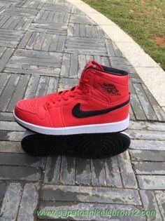 new product b5930 e14a7 Vermelho/Escuro army-Branco 332134-631 HI PREMIER AIR JORDAN 1 RETRO High.  Hamilton · sapatos Nike Lebron 12
