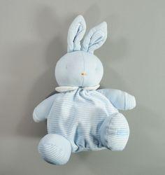 Doudou lapin boule velours et coton bleu et blanc Klorane garçons in Bébé, puériculture, Peluches, doudous | eBay