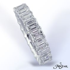 Emerald Cut Diamond Eternity Band @Arik Howie one of these and one round one like chelsie's will do :-)