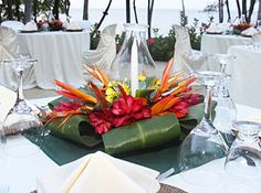 tropical arrangeements for wedding archs | ... needed and therefore the amount of tropical floral arrangements