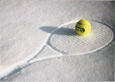 Winter tennis, love this!