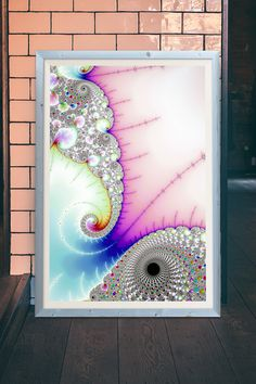 Fractal Spiral with pastel colors. Check out more than 500 Fractals here: http://matthias-hauser.pixels.com/collections/fascinating+fractals Available as poster or print (framed, canvas, metal, acrylic) with 30 days money back guarantee on every purchase. (c) Matthias Hauser
