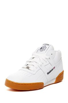 **** THESE WERE MY 5th GRADE SNEAKERS!!!!!Reebok Workout Mid Gum Sneaker