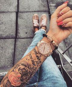 Als Melhores Tattoos de Pet - diy tattoo images - Dope Tattoos, Trendy Tattoos, Forearm Tattoos, Body Art Tattoos, Girl Tattoos, Tattos, Henna Tattoos, Tattoos Pics, Feminine Tattoos