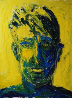 Painting by Rainer Fetting. Max Ernst, Expressionist Artists, Abstract Expressionism, Abstract Portrait, Portrait Art, Portraits, Rainer Fetting, Visual Meaning, Neo Dada