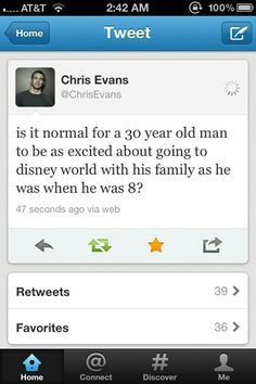 Chris Evans and Disney. Good for you Chris, never change