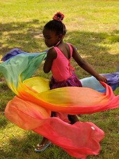 Rainbow silkscape.