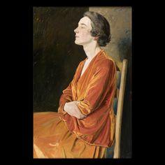 Portrait of Gladys Calthrop (1894-1980), 1922, by Sir William Rothenstein (1872-1945)