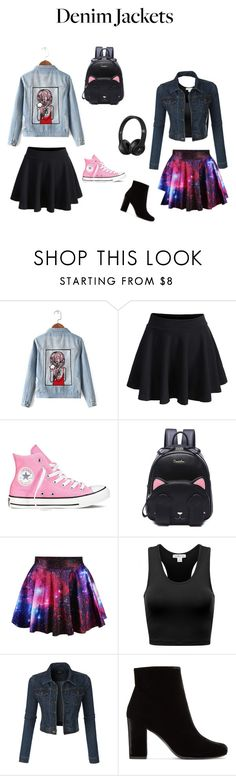 """""""Pretty denim"""" by rosalieseaborn ❤ liked on Polyvore featuring Chicnova Fashion, WithChic, Converse, LE3NO and Yves Saint Laurent"""