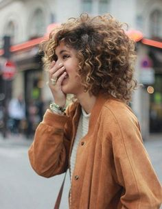 16 Short Hairstyles for Thick Curly Hair: #2. Short Thick Curly Hair Idea