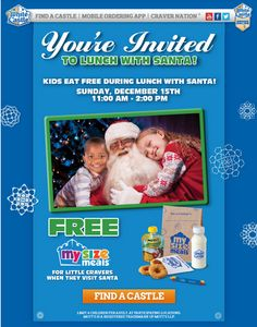 WHITE CASTLE $$ Reminder: Kids Eat FREE With Santa – SUNDAY Only (12/15)!
