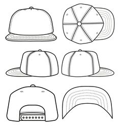Best Photos of Blank Snapback Stencil - Snapback Hat Template ...