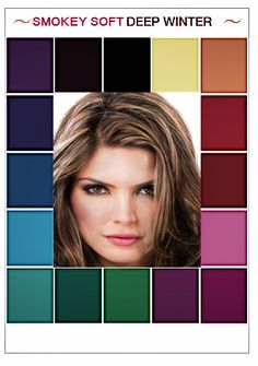 Deep Winter Palette, Deep Winter Colors, Clear Winter, Dark Winter, Color Type, Winter Typ, Seasonal Color Analysis, Color Me Beautiful, Color Balance