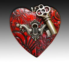 The key to my heart pendant by adrianaallenllc on Etsy, $15.00