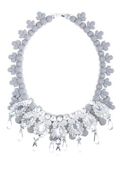 Ballone silicone and cubic zirconia necklace by Ek Thongprasert