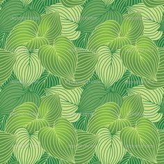 Illustration of Vector seamless pattern of green Hosta plants. vector art, clipart and stock vectors. Big Leaf Plants, Hosta Plants, Fabric Wallpaper, Custom Wallpaper, Cool Wallpapers Patterns, Wallpaper Patterns, Stencil Patterns, Tangle Patterns, Textile Patterns