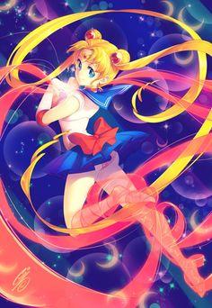 Sailor Moon Amazing Illustrations by Gina Chacón Sailor Moon S, Sailor Moon Crystal, Sailor Pluto, Sailor Mars, Sailor Neptune, Manga Comics, Full Hd Wallpapers, Princesa Serenity, Sailor Moon Character