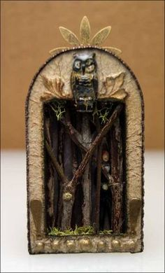 This is an awesome wicked altered matchbox. It reminds me of the Eye of the World series when Perrin is chasing one of the forsaken through the dream world. He was super shady and shifty...