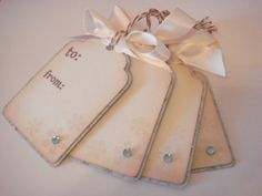 snowflake gift tags Cricut tags by CraftyClippingsbyPeg on Etsy