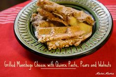 Grilled Manchego Cheese with Quince Paste, Pears and Walnut Butter #SeriousSandwich
