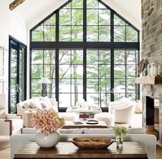 Wow! Love this bright open living room home decor! Find daily inspiration for all things home at Pinterest.com/blessinghomedecor