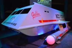 "The actual Galileo 7 Shuttlecraft from the original ""Star Trek"" television series has been completely restored and went on permanent display at Space Center Houston on July 31, 2013."