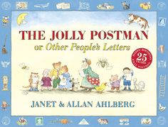 The Jolly Postman or Other People's Letters by Janet and Allan Ahlberg. The Jolly Postman delivers cards and letters to various fairy-tale characters. A timeless classic that children enjoying reading over again.