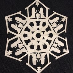 nativity snowflake template - Google Search