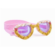 Why wait for the ice cream man when you have your sundae swim goggles? Banana Split features 3-dimensional faux icing and sprinkles on our exclusive heart shaped frame printed and embossed with a traditional waffle cone print, tied together with a cherry charm on top. Banana Split Sundae is available in two delectable colorways, is latex-free, equip with UV protection, a super anti-fog coating and comes included with a protective hard case. Our goggles offer a variety of features proving they a Dongguan, Cute Sunglasses, Mirrored Sunglasses, Pink Banana, Top Banana, Ice Cream Man, Flower Girl Shoes, Heart Shaped Frame, Kids Winter Fashion