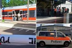 Hot: Armed Man Stabs 6 Year Old Child & Other 6 And Sets A Train Carriage In Switzerland On Fire