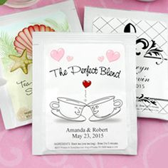 Personalized Wedding Tea Favors(Many Designs Available)