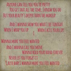Wanted lyrics by Hunter Hayes....for P.M. <3