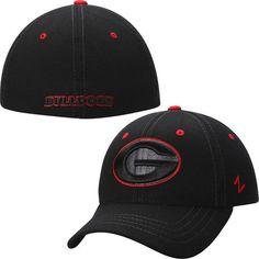 c9e23179fe4a6 Zephyr Georgia Bulldogs Black Basic Element Flex Hat