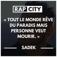 Die 20 besten Pointen von Sadek - Anzahl der Source by City Quotes, Rap Quotes, Lyric Quotes, Lyrics, French Quotes, English Quotes, Best Punchlines, Lyric Pranks, Favorite Quotes