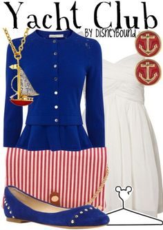 Head out to the resort in this Yacht Club outfit | Disney Fashion | Disney Fashion Outfits | Disney Outfits | Disney Outfits Ideas | Disneybound Outfits | Disney World Outfit |