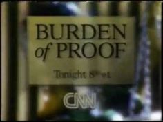 Burden of Proof was CNN's crime entertainment darling, but also served an important political role as it marked the birth of crime entertainment: https://nationalcdp.org/media-and-crime/