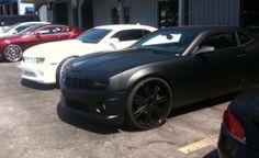 Matte white and matte black Camaros spotted | 2011 2012 Camaro ZL1 SS LT Camaro forums, news, blog, reviews, wallpapers, pricing - Camaro5.c...