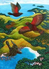 Rachel Olsen Artist - buy Original New Zealand Art Nz Art, Art For Art Sake, Bird Artists, New Zealand Art, Madhubani Art, Maori Art, Kiwiana, Contemporary Artists, Pet Birds