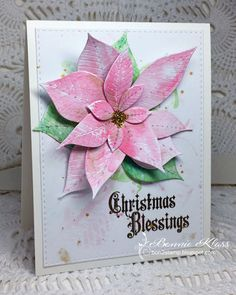 Stamping with Klass: Poinsettia Card Making Greeting Cards, Christmas Greeting Cards, Christmas Greetings, Design Crafts, Diy Crafts, Poinsettia Cards, Christmas Blessings, Penny Black