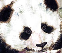 panda on Behance #panda #painting #art
