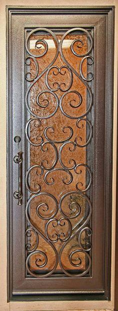 Security Doors - Screens - Wrought Iron Gates – Storm Entry Doors - Home Decor Front Door Entryway, Iron Front Door, Exterior Front Doors, Entry Doors, Front Entry, Wrought Iron Doors, House Doors, Iron Decor, Steel Doors