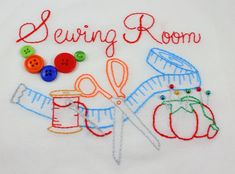Sewing Room Hand Embroidery Pattern by KimberlyOuimet on Etsy