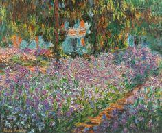 Il giardino dell'artista a Giverny (Le Jardin de l'Artiste à Giverny); Claude Monet, 1900; Olio su tela (81 x 92 cm)
